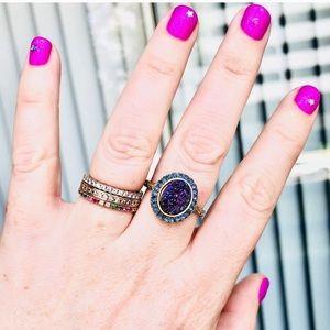 GORGEOUS Anthropologie Dara Ettinger Druzy Ring